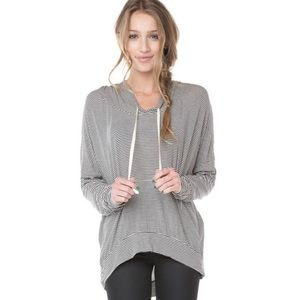 Brandy Melville Layla striped hoodie one size